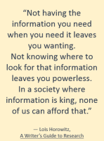 information is king