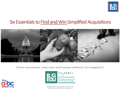 WEBINAR: Six Essentials to Find and Win Simplified Acquisitions – December 9th at 2:00PM ET (NACA)
