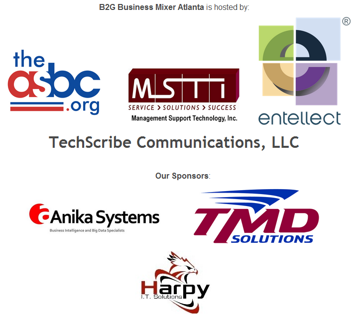 B2G Business Mixer Atlanta Sponsors and Hosts