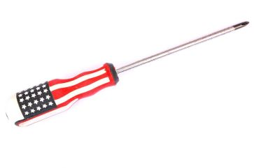21156790 - screwdriver handle in an american flag pattern isolated on white background