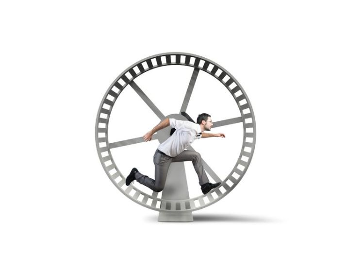 28230956 - concept of business loop with running businessman