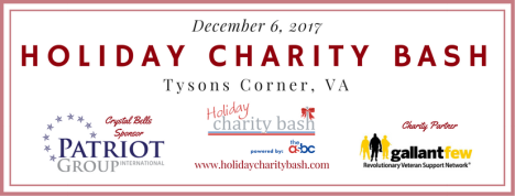Supporting GallantFew to Reach the Gallant Many – 2017 Holiday Charity Bash™ on December6th